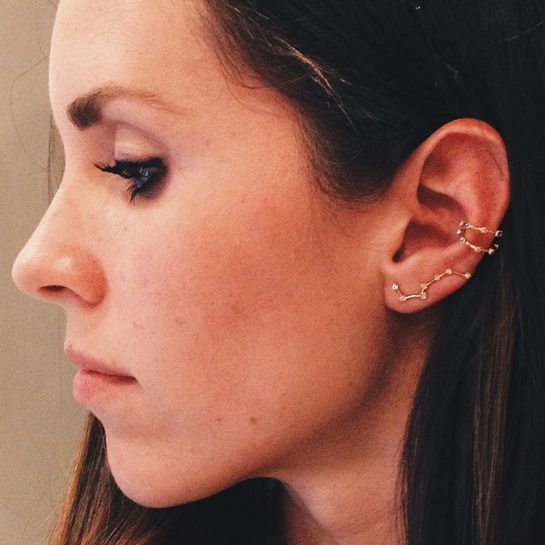 30 Extreme Piercings That Put Single Studs To Shame #refinery29  http://www.refinery29.com/extreme-piercing#slide26  This Big Dipper earring is Ursa Major (see what we did there?).