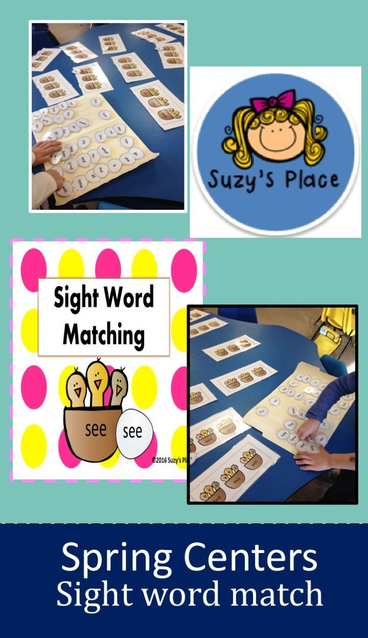 Your children will be chirping with excitement as they play this interactive sight word center!   The children match the egg to the nest in this colorful learning game! Just print, cut and go!  Wonderful for introduction or review! Included are these 45 commonly used sight words: I  like  the  and  was  see  we  a  to  can  am  come  me  with  my  you  what  are  now  is  how  find  this  will  be  go  for  it  in  make  play  said  good  she  all  he  no  do  down  have  help  look  out…