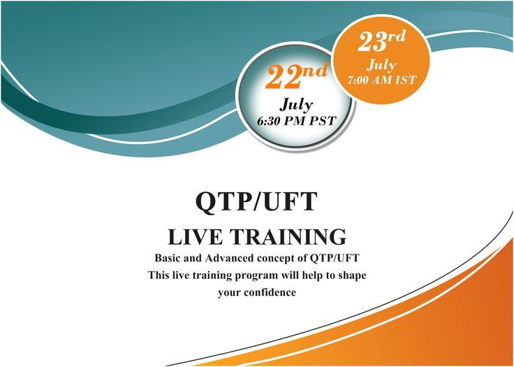 How to build #AutomationFrameworks? ------------------------------------------------------- Visit:http://www.itelearn.com/events/qtpuft-live/  This #LiveTraining program will help to shape your confidence and give you a good hands-on practical exposure on #UFT tool. Do not miss this great opportunity to attend this Live training with ITeLearn.com.  The #FreeOrientationSession will be conducted on 22nd July at 6.30 PM Pacific.