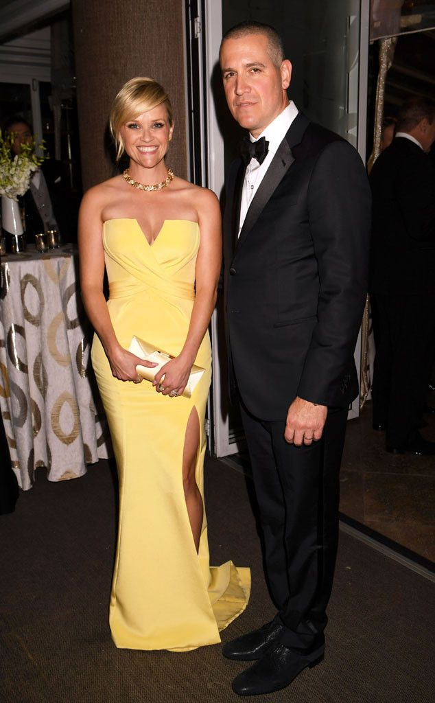 Reese Witherspoon & Jim Toth from Golden Globes 2017 Party Pics  The presenter and her husband looked like a picture-perfect couple at the HBO after-party.