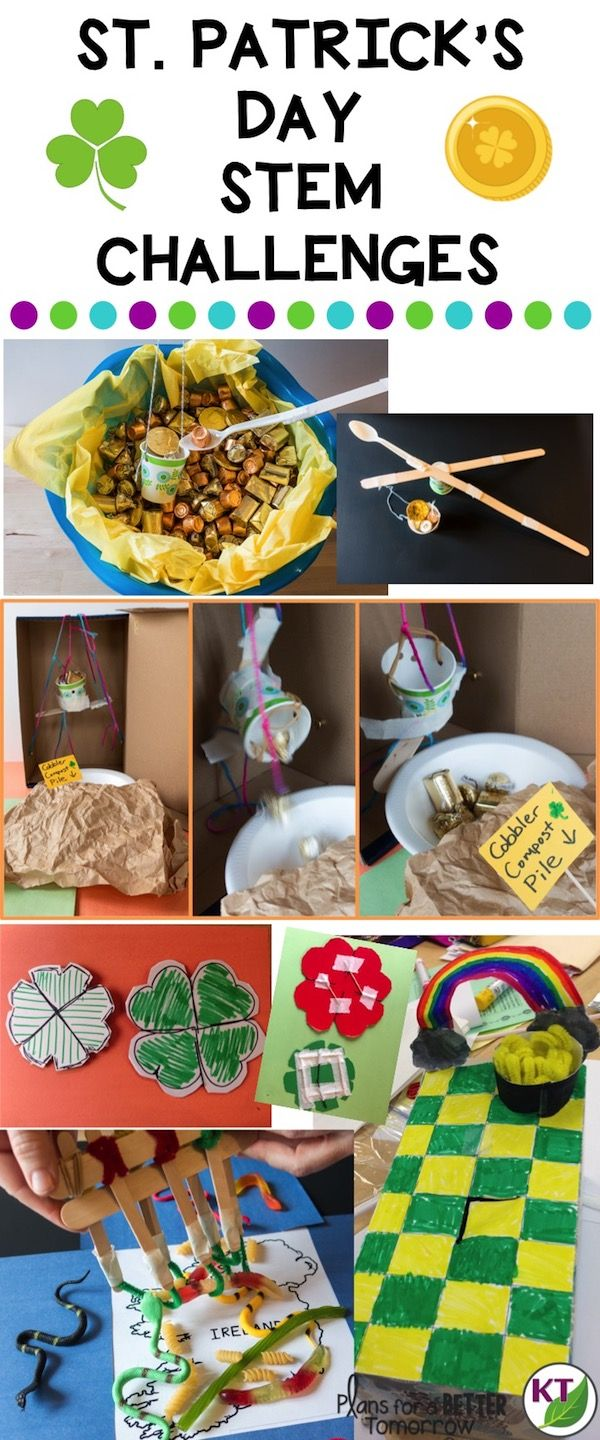 Teacher dilemma: you want to do fun St. Patrick's Day activities, but only it it's fun with substance! These five St. Patrick's Day STEM Challenges keep your students engaged in problem-solving, critical thinking, and brain-busting collaborative work, disguised as fun. >>>Click through to the blog for details, video walk-throughs, resources, and more! If you're looking for elementary resources or middle school resources, these challenges include modifications for grades 2 - 8.