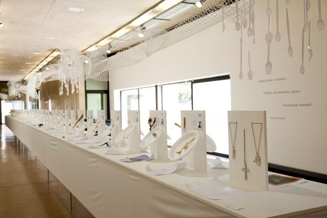 Student spoon inspired jewellery exhibit