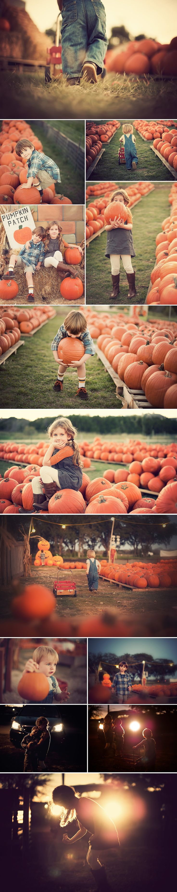 This year I wanted something a little different from the same pumpkin patch shots I get every year... I wanted more of a creative challenge for myself while keeping our family tradition. So this year we took our kids after the sun had set and played with only the available light from the horizon... #photography_tips #lighting