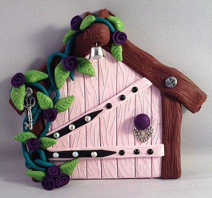 Polymer Clay Fairy Door  Cottage by MistsofAzura on Etsy, £15.00