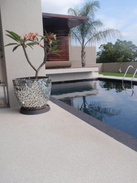 quartz flooring for the patio