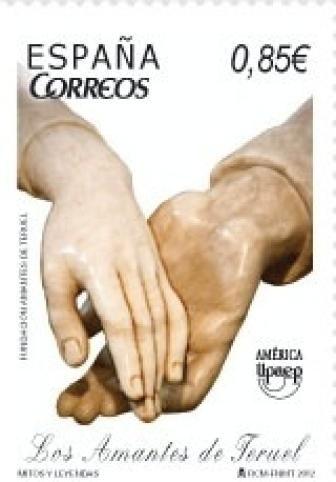 Correos ha dedicado un sello a los Amantes de Teruel