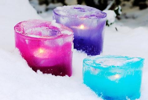 Colorful ice candle holders - Värikäs jäälyhty - Tee itse - Piha ja puutarha - Suomela.fi