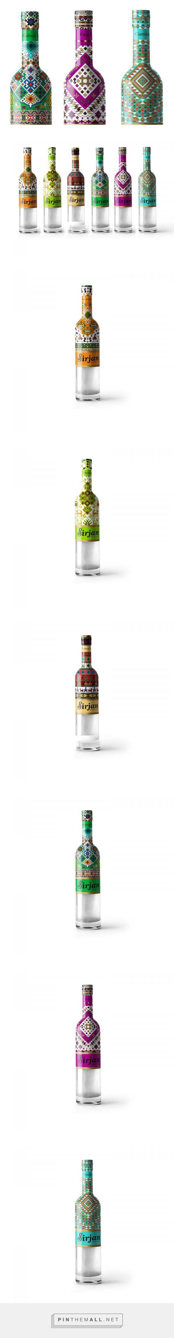 Sirjan herbal syrup packaging design by Vahid Yaghoblo - http://www.packagingoftheworld.com/2018/01/sirjan.html