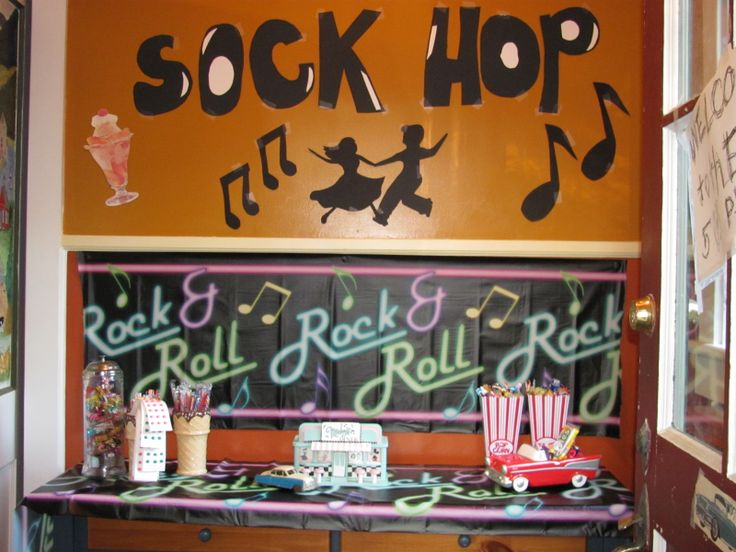 How To Decorate A Room For A Sock Hop Party   Google Search