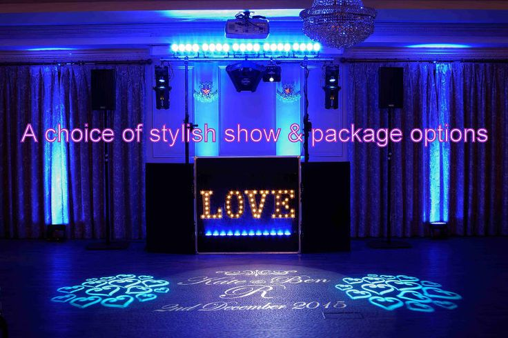 A choice of stylish show and package options for your wedding - DJ Martin Lake
