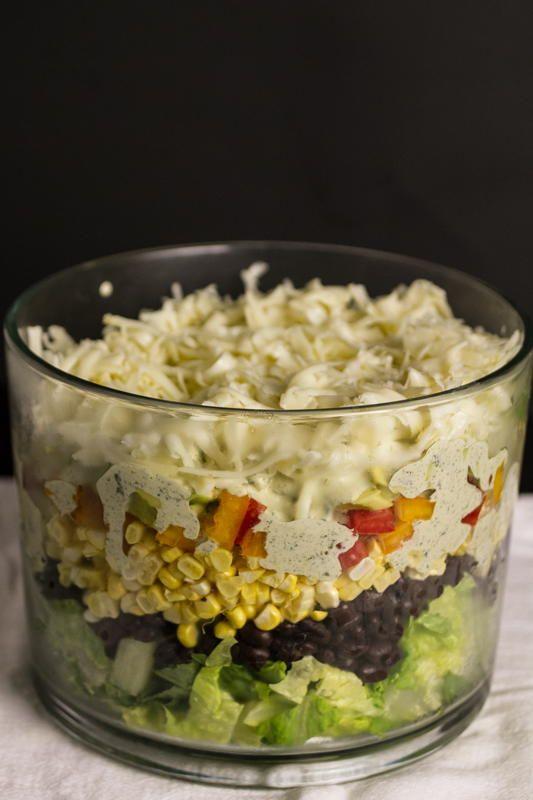 Southwestern Seven-Layer Salad | FaveSouthernRecipes.com