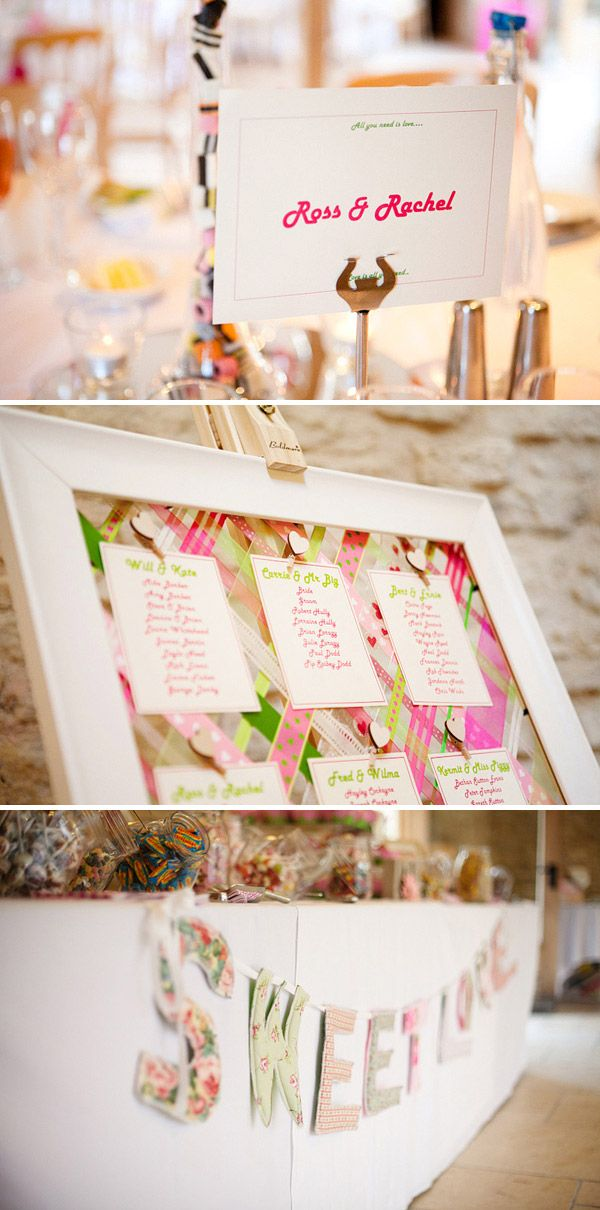 I absolutely LOVE this table plan and will be off to buy a load of ribbon at the weekend