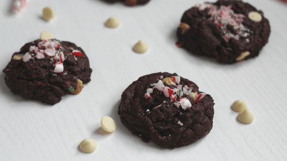 Double Chocolate Candy Cane Cookies - Hide The Cookie Jar