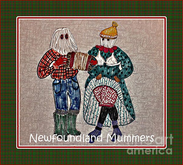 Newfoundland Mummers Digital Painting By Barbara Griffin
