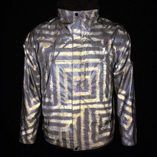 Stone Island Grey Lasered Reflex Mat Jacket at Aphrodite Clothing UK #stoneisland #mensfashion