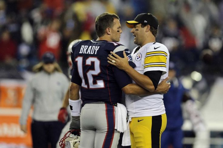 Patriots vs. Steelers -  September 10, 2015 8:58 PM (Photo:  New England Patriots quarterback Tom Brady, left, speaks with Pittsburgh Steelers quarterback Ben Roethlisberger before an NFL football game, Thursday, Sept. 10, 2015, in Foxborough, Mass.- (Credit: AP / Charles Krupa)