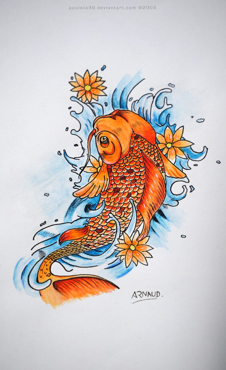 23 best Koi Fish Art images on Pinterest | Colours, Draw and Font ...