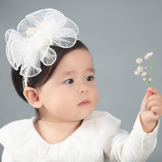 Floral Hair Accessories Headwear Baby Headband Flower Pearl Photography props