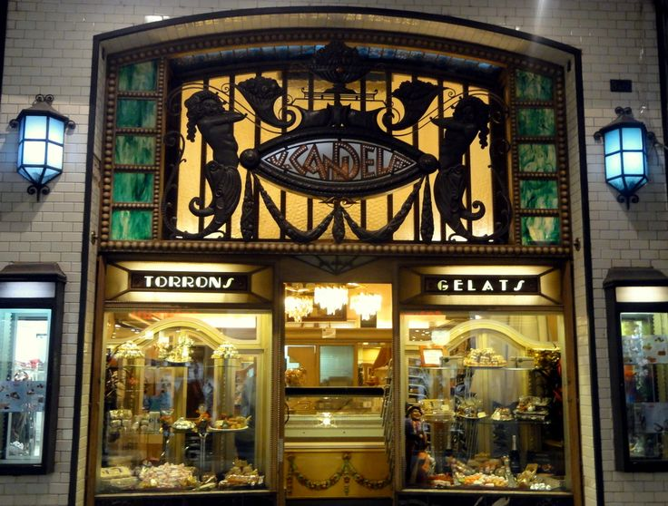 Art Nouveau in Girona, this is a bakery and ice salon.