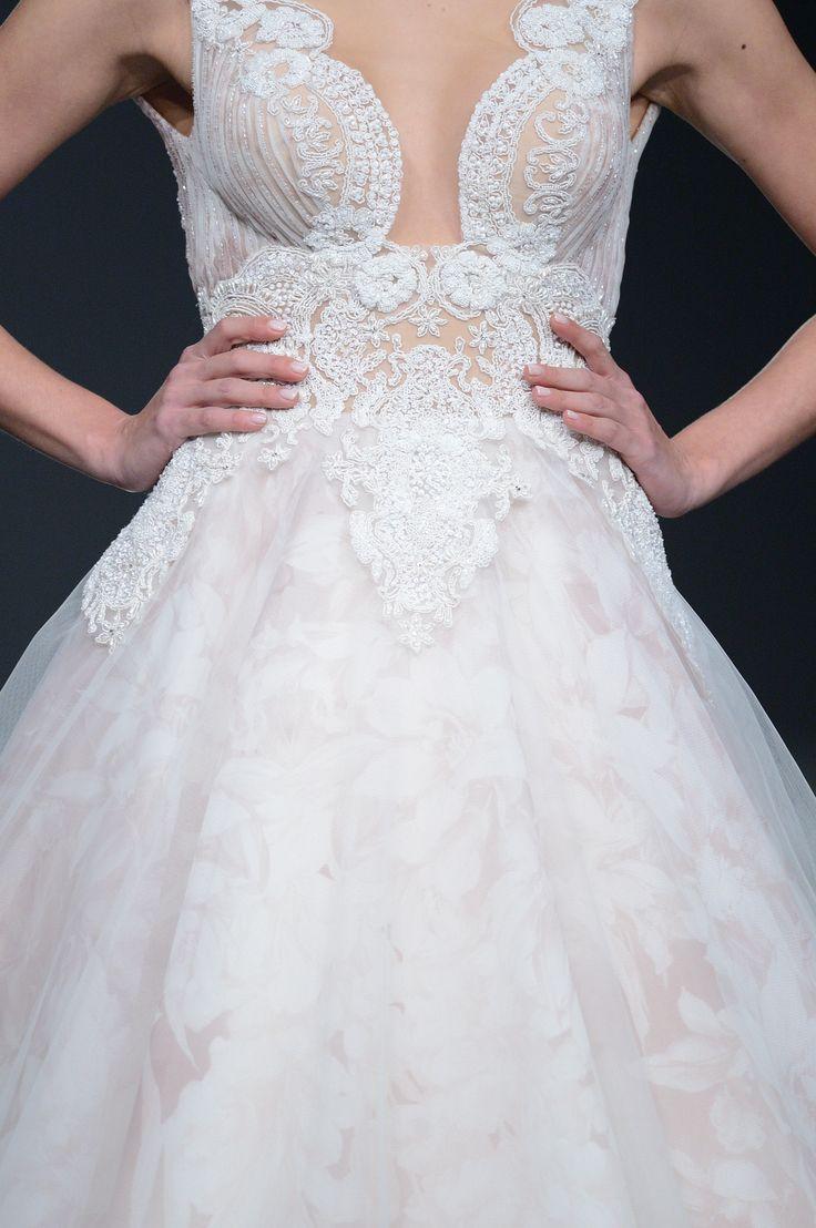 CARRIE #weddinggown #bridaldetail #hanbeaded #weddingbustier #softpink #organzaskirt #luxury #romance #celestialcollection #costantinobridal #newbridalcollection #catwalk #bridalshow