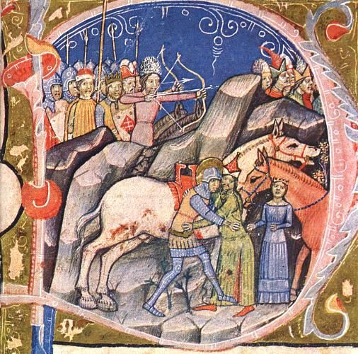 The Saint Ladislaus legend in the Képes Krónika, 1360