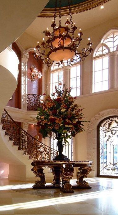 Grand Foyer Chandelier : Images about home foyers on pinterest