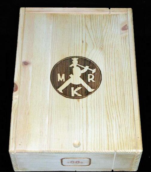 "Sin Que Non ""Mr. K"" 3 Bottle Slide-top Wooden Wine Case"