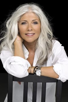 Image result for gray hair  on older women