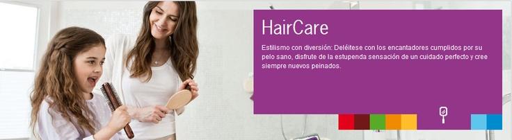 HairCare  Estilismo con diversión: Deléitese con los encantadores cumplidos por su pelo sano, disfrute de la estupenda sensación de un cuidado perfecto y cree siempre nuevos peinados.