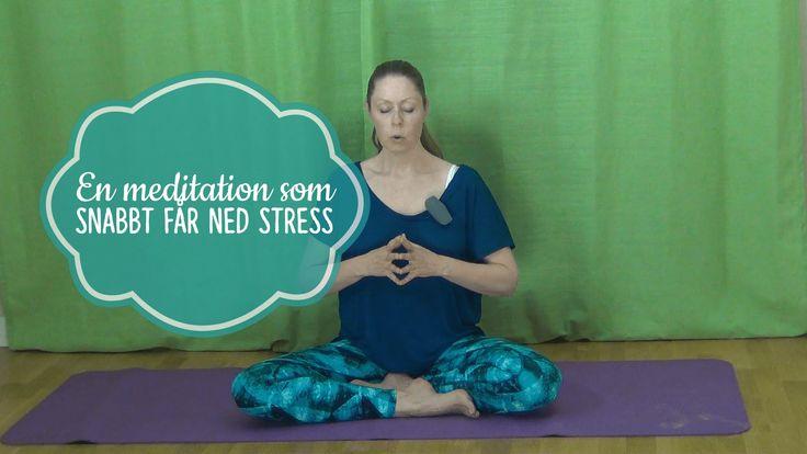 En meditation som får ned stress snabbt. - Mediyoga