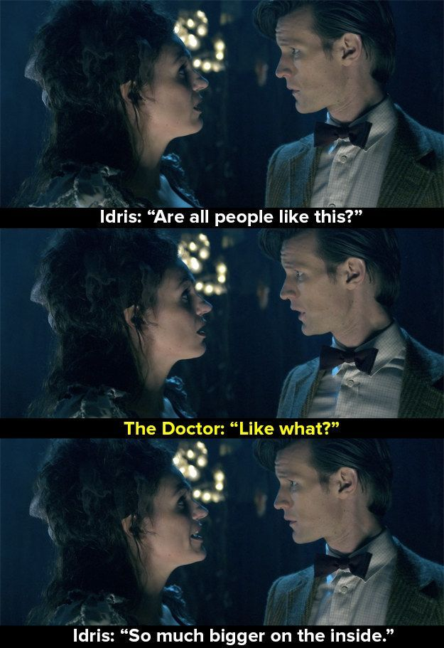 When The Doctor met the soul of the TARDIS as a human body called Idris (Suranne Jones), who said this as her last words before returning into the machine.