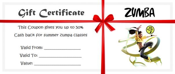 8 Zumba Gift Certificate Templates Free Samples And Examples In Word And Pdf Format Template Sum Gift Certificate Template Zumba Gifts Certificate Templates