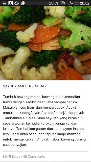 Resep capcay #indonesianfood #recipe