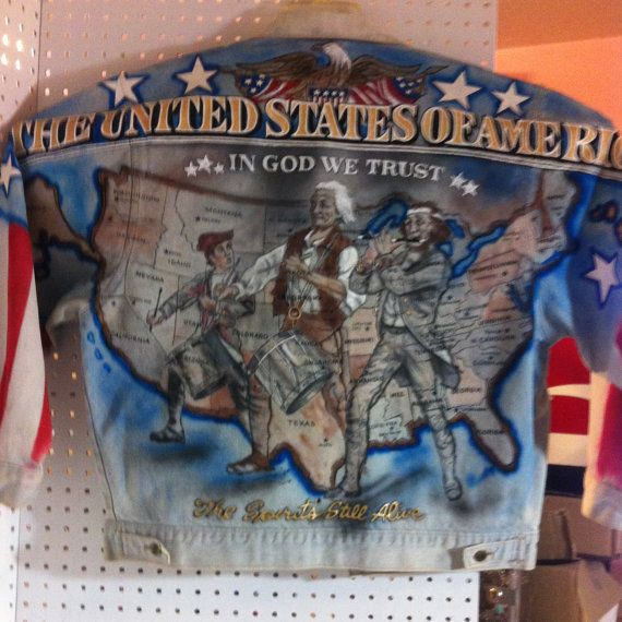 Tony Alamo Denim Air Brushed Jacket never worn by NorthendCowgirl