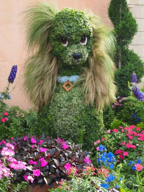 Lady Topiary in Italy at the Epcot Flower and Garden Festival 2012
