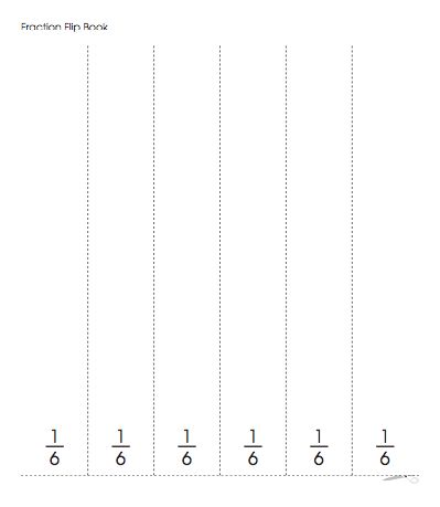75 best mathfractions images on pinterest math fractions heres a fraction flip book template with fractions from one whole to one eighth maxwellsz