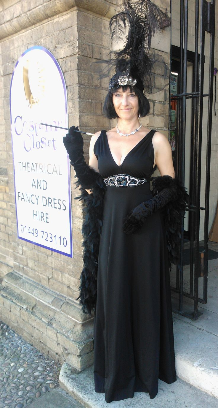 1920's 130's hollywood glamour fancy dress costume