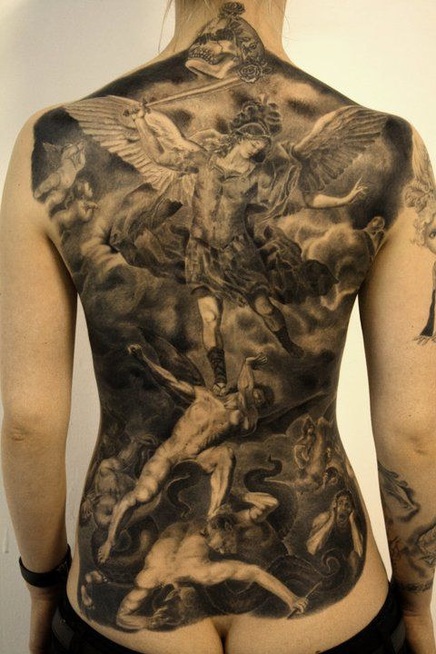 Holy shit, amazing!!  battle of angels black & gray backpiece