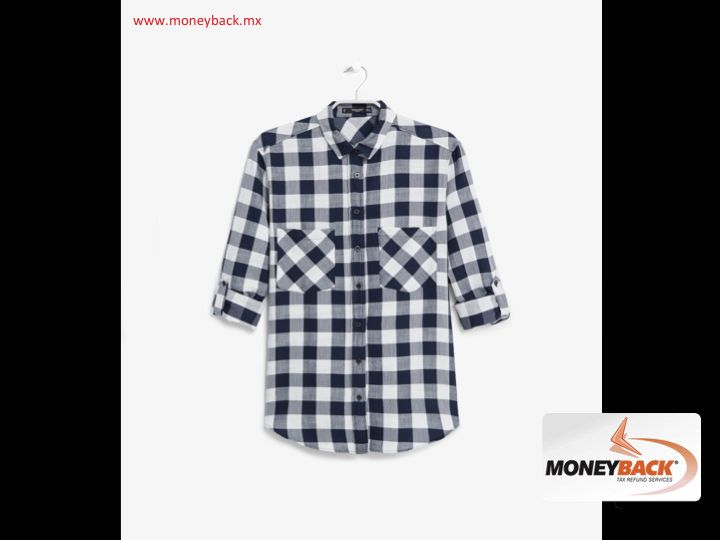 MONEYBACK MEXICO. In MANGO you can find this very fashionable plaid shirt made of a cotton blend with two patch pockets on chest, button closure in front and long sleeves with roll up loops. Checkered in white and dark blue, to be combined with any outfit. MANGO Mexico is affiliated to Moneyback, a tax refund service for tourists traveling in Mexico.#moneybackwww.moneyback.mx  MONEYBACK MÉXICO.En MANGO podrás encontrar esta camisa de cuadros muy a la moda confeccionada en mezcla de algodón…