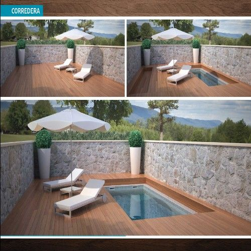 M s de 25 ideas incre bles sobre peque as piscinas en - Piscinas para patios pequenos ...