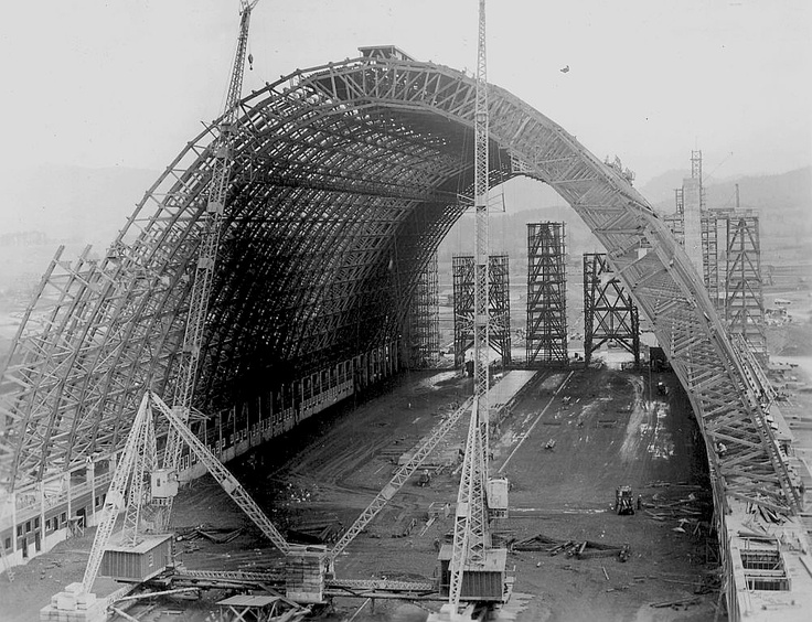 Dirigible Hangar B, Tillamook, Oregon was built in 1943