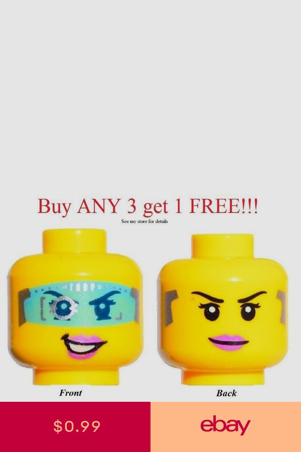NEW Lego Ultra Agents Female MINIFIG HEAD w//Calia Phoenix Pink Lips Girl Smile