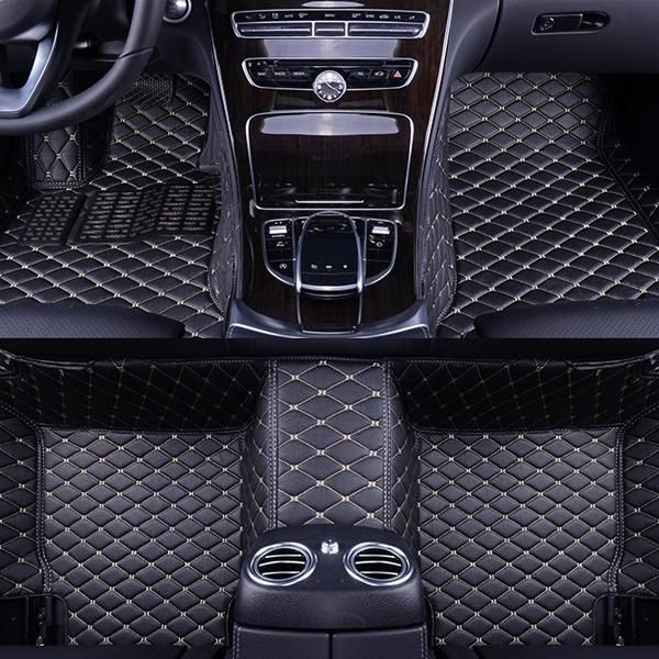 Custom Car Floor Mat In Leather Car Floor Mats Custom Car Floor