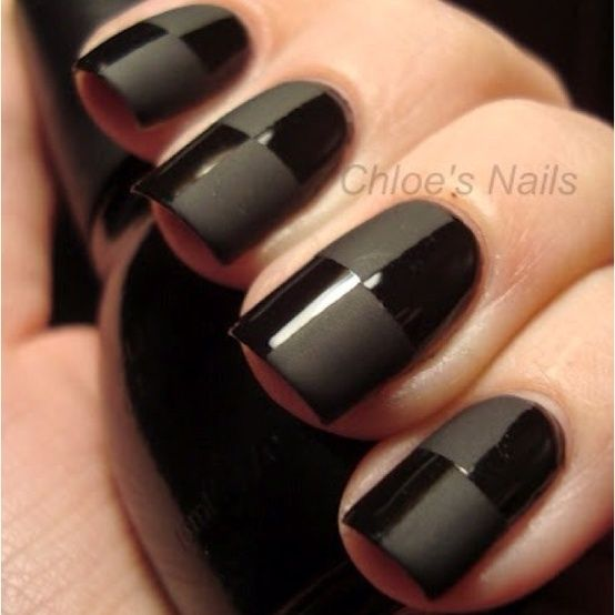 Straight Line Nail Art : Black nail art designs party dress with one of these