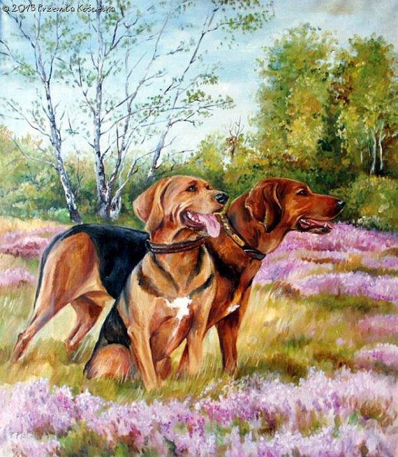 Custom Dog portrait Large realistic LANDSCAPE by CanisArtStudio
