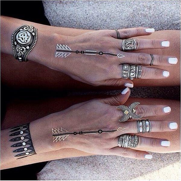 Новый тренд: металлические татуировки вместо украшений - Ярмарка Мастеров - ручная работа, handmade