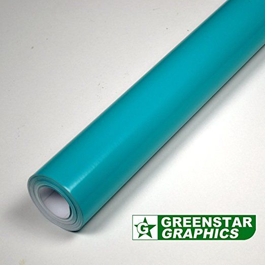 TEN METER ROLL OF TEAL GLOSS FABLON TYPE STICKY BACK PLASTIC SELF ADHESIVE SIGN VINYL (10m x 610mm)