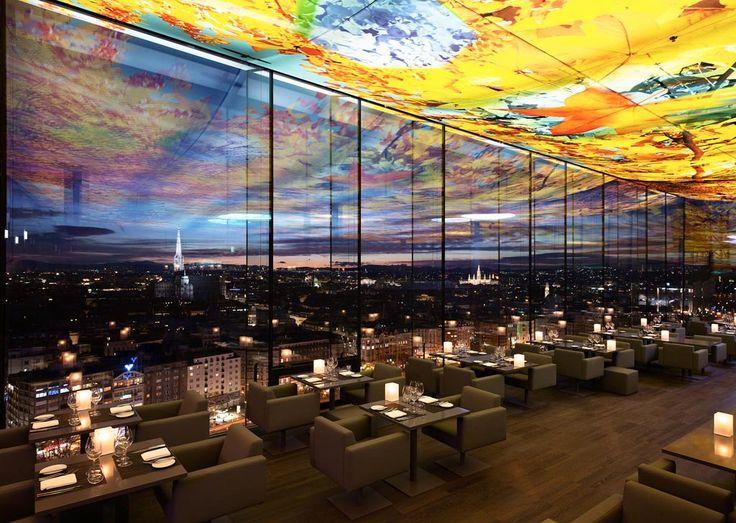 Willkommen im Luxushotel Sofitel Vienna had SPECTACULAR views and very fun atmosphere.