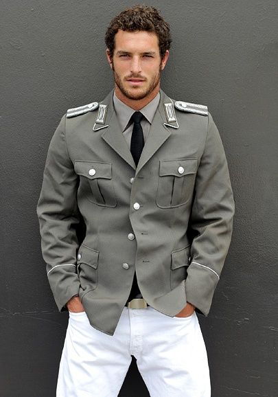 Military jacket...oh and the boy in it!!