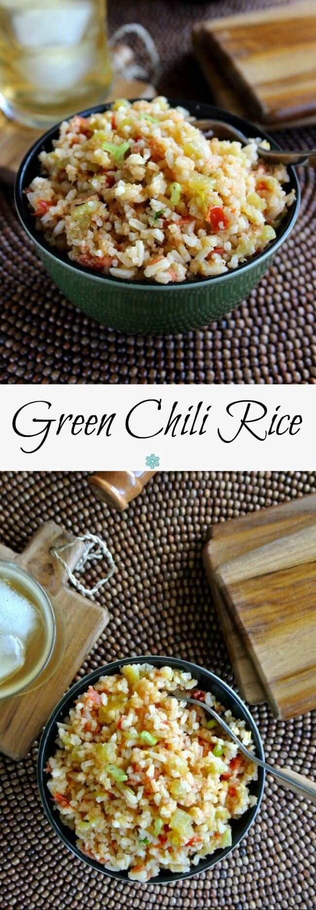 This Green Chili Rice Recipe is prepared like a flavorful soup and ends up as a fantastic side dish. Easy to make !